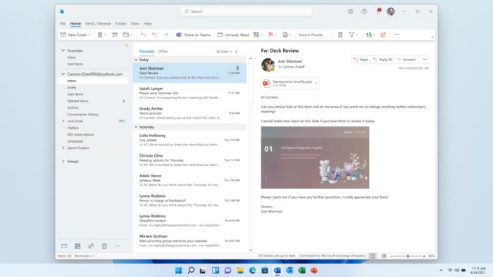 Outlook no Windows 11 (Imagem: Divulgação)