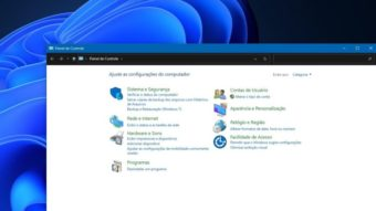 Windows 11 mantém Painel de Controle, mas migra recursos para Configurações