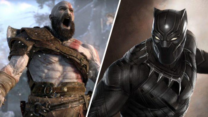 Kratos e Pantera Negra: separados por um ator (Imagem: Reprodução)