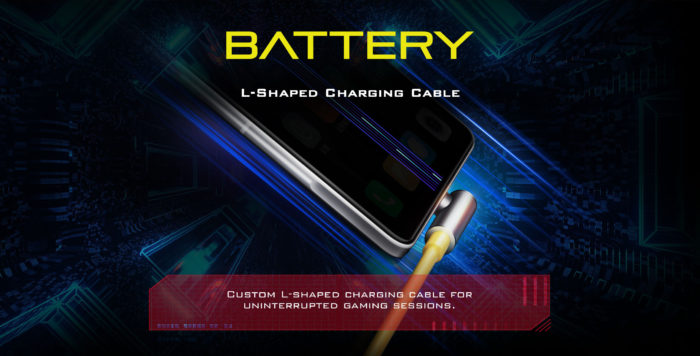 Poco F3 GT tem cabo USB-C que reduz desconforto ao usar o celular durante a recarga (Imagem: Divulgação/Xiaomi)