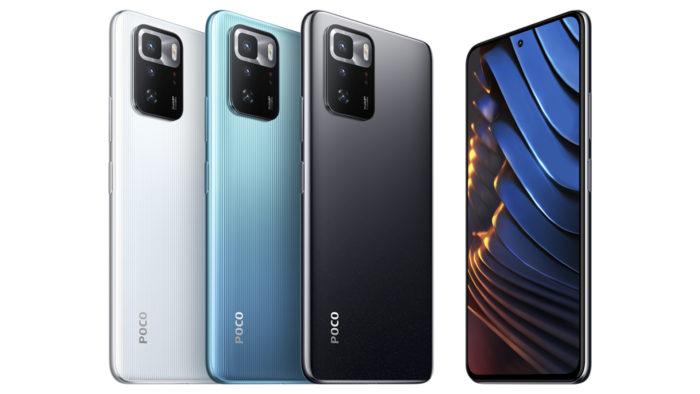Poco X3 GT tem três opções de cores (Imagem: Divulgação/Xiaomi)