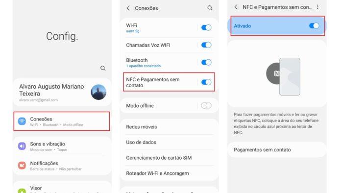 Nas configurações você também pode verificar se o NFC está disponível (Imagem: Reprodução/Android)