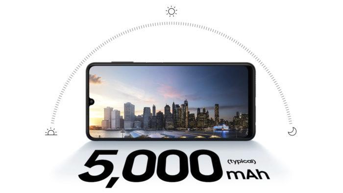 Samsung Galaxy A22 tem bateria de 5.000 mAh (Imagem: Divulgação/Samsung)