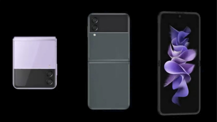 Suposto Galaxy Flip 3 (Imagem: Reprodução/Evan Blass/Twitter)
