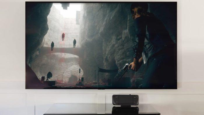 Steam Deck na TV (Imagem: Divulgação/Valve)