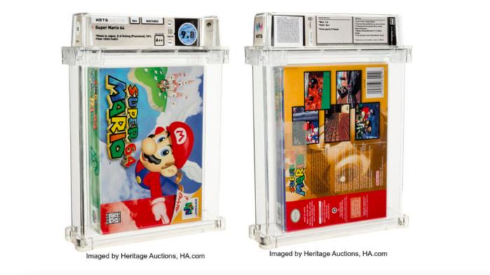 Super Mario 64 vende por quase R$ 9 milhões em leilão (Imagem: Reprodução)
