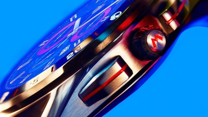 Detalhe na coroa do smartwatch de Super Mario da linha Tag Heuer Connected (Imagem: Divulgação/Tag Heuer)
