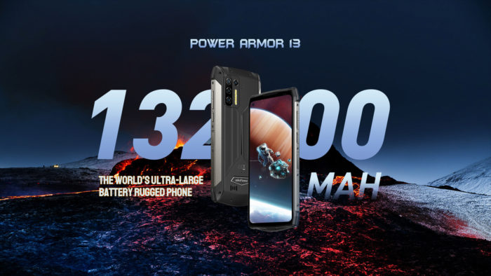 Ulefone Power Armor 13 has a 13,200 mAh battery (Image: Publicity/Ulefone)