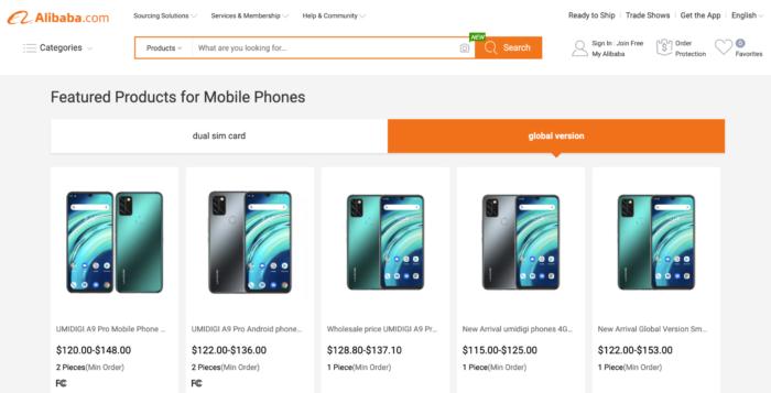Umidigi A9 Pro and A9 Pro 2021 on Alibaba (Image: Reproduction)