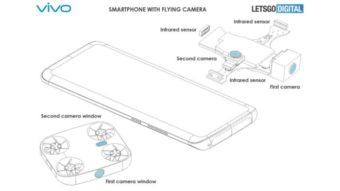 Vivo registra patente de celular com câmera destacável que voa como drone