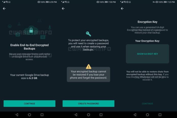 Backup com senha no WhatsApp (Imagem: reprodução/WABetaInfo)