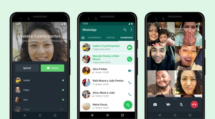WhatsApp ganha opção para entrar em chamadas em grupo que já começaram (Imagem: Divulgação/WhatsApp)