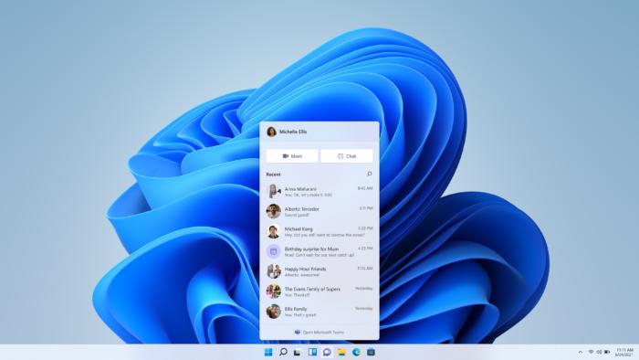 Botão de chat do Windows 11 (Imagem: Reprodução/Microsoft)