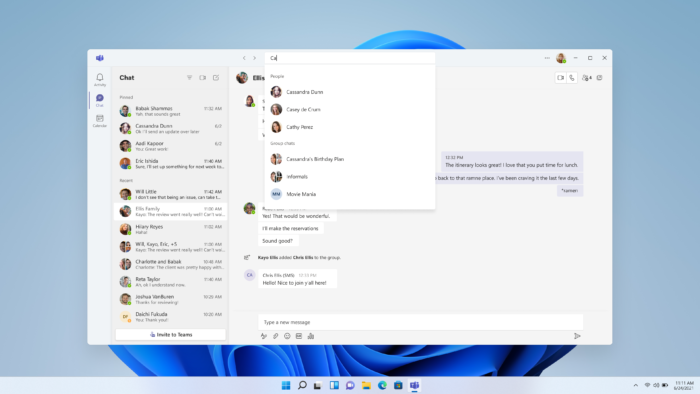 Microsoft Teams no Windows 11 (Imagem: Reprodução/Microsoft)
