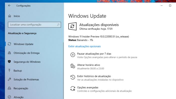 Baixando o Windows 11 (Imagem: Reprodução)