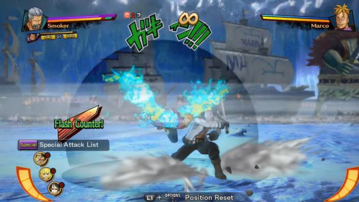 Flash Counter em One Piece: Burning Blood