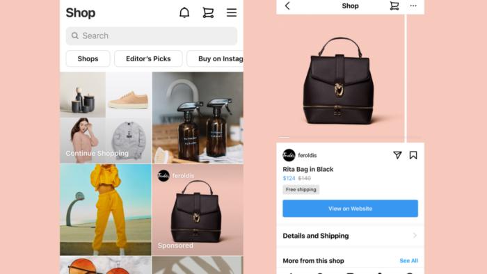 Anúncios serão divulgados em blocos na aba Loja do Instagram (Imagem: Divulgação)