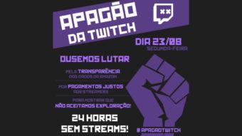 Apagão na Twitch: streamers organizam greve de lives no Brasil
