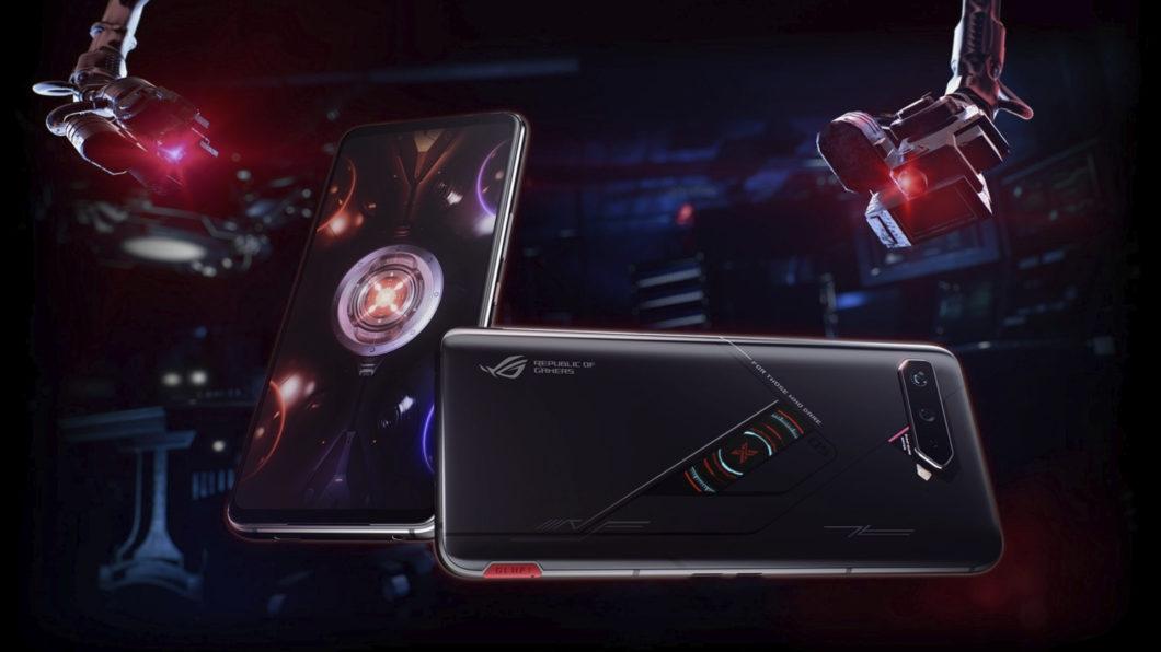 ASUS ROG Phone 5S Pro tem tela colorida na parte de trás (Imagem: Divulgação/Asus)