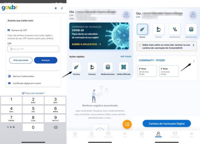Aplicativo ConecteSUS registra as vacinas de COVID-19 tomadas pelo cidadão