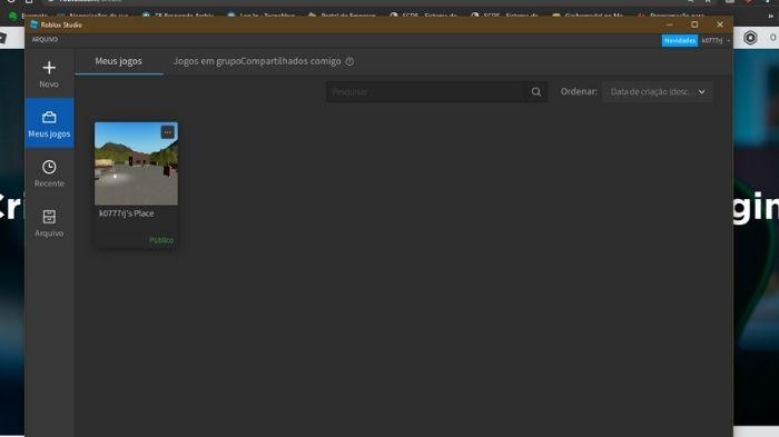 Como fazer thumbnail de um jogo no Roblox (Imagem: Leandro Kovacs/Reprodução)