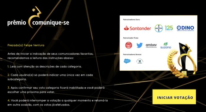 Voting for the Comunique-se Award 2021 (Image: Reproduction)