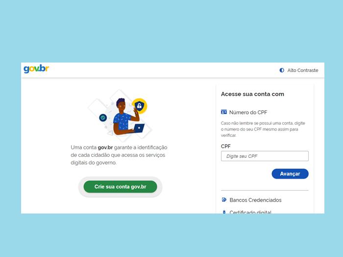 Faça login com a conta Gov.br (Imagem: Reprodução/Enem)