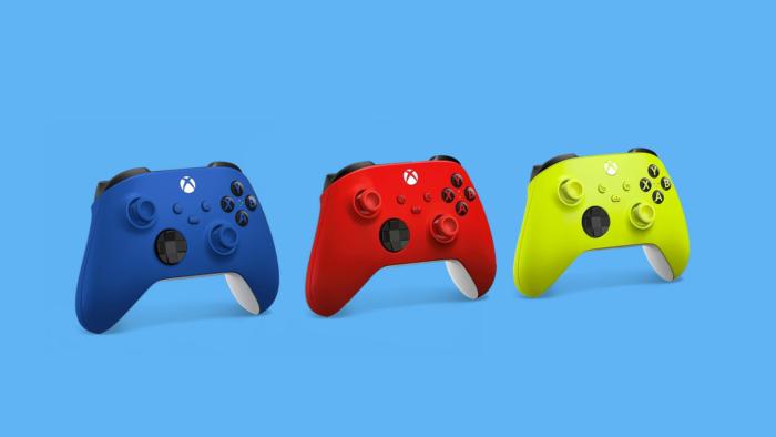 As novas cores dos controles do Xbox (Imagem: Vitor Pádua/Tecnoblog)
