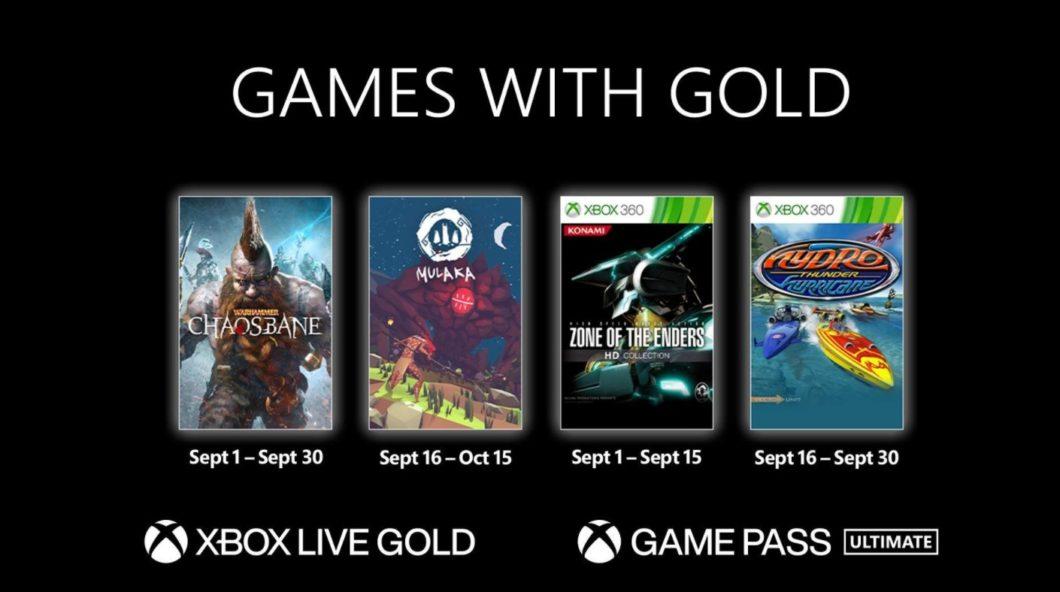 Games Xbox Live Gold setembro