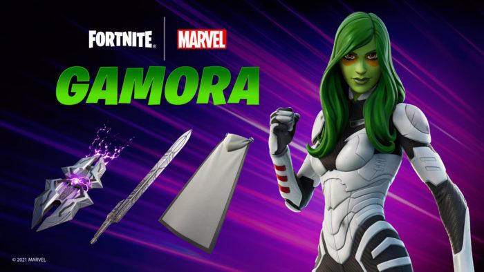 Gamora agora está em Fortnite (Imagem: Divulgação/Epic Games)