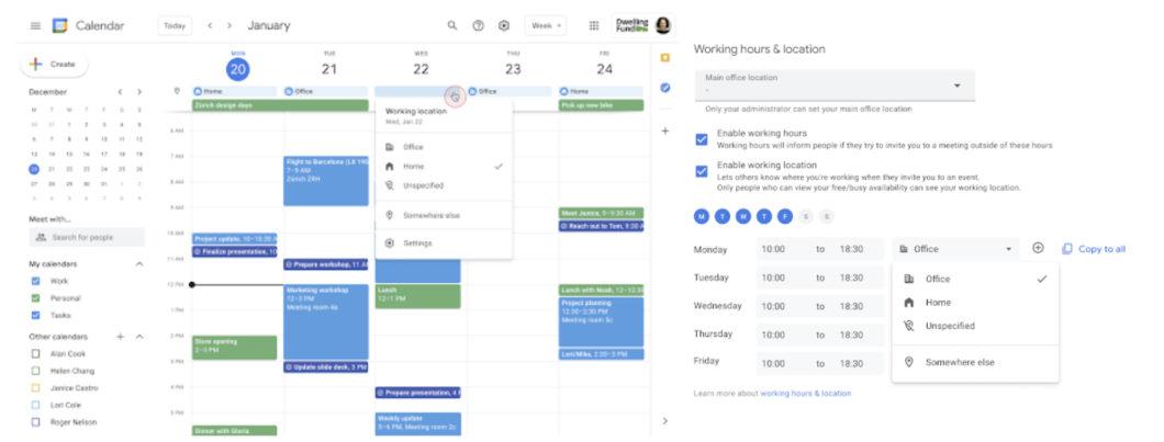 Google Agenda ganha função para mostrar local de trabalho (Imagem: Divulgação/Google)