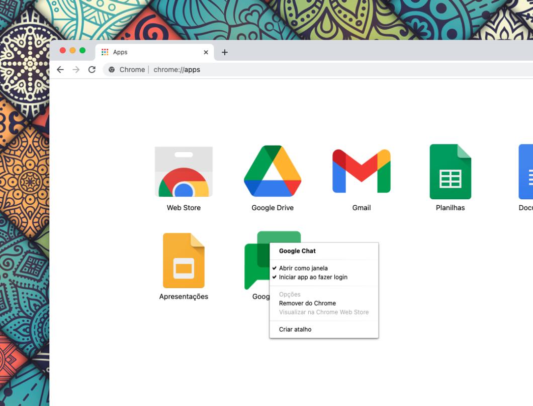 App do Google Chat ganha opção para ser executado ao fazer login no computador (Imagem: Reprodução/Tecnoblog)