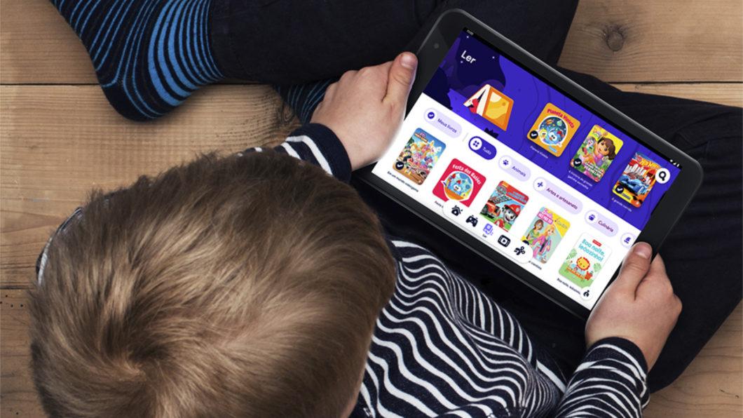 Interface do Google Kids Space (Imagem: Divulgação/Google)