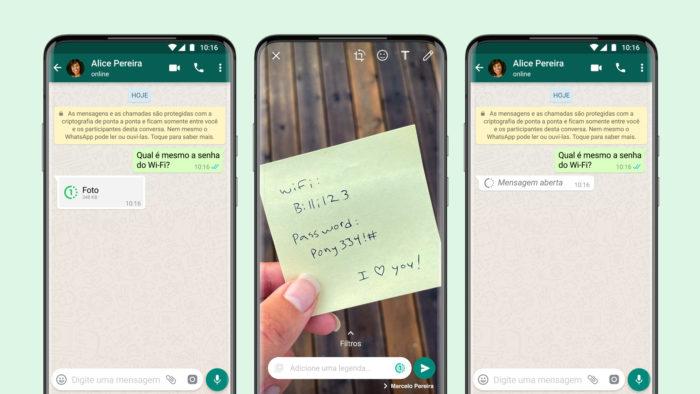 Fotos temporárias chegam ao WhatsApp no Android e iOS (Imagem: Divulgação/WhatsApp)