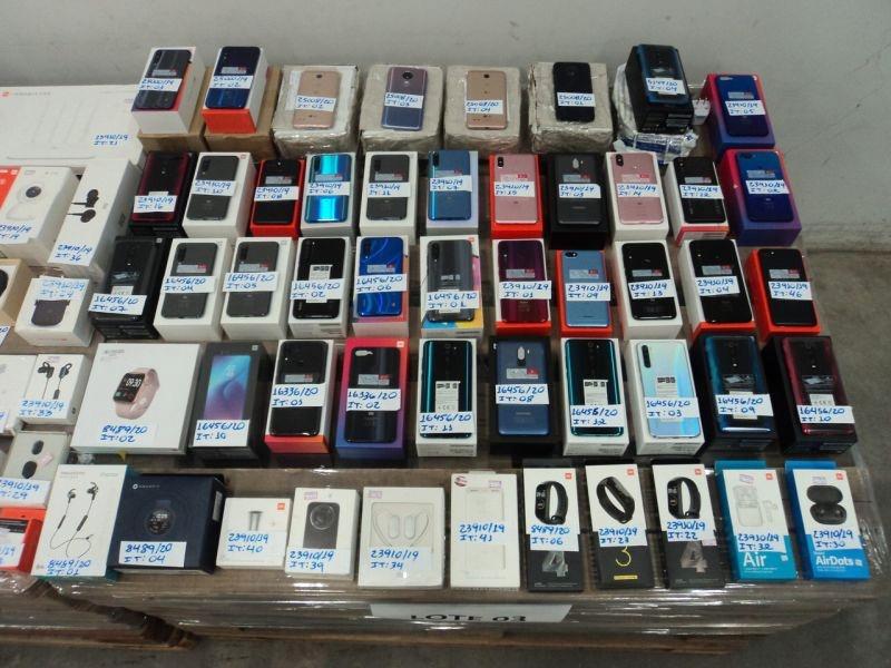 Lote 3 de SP tem 323 celulares da Xiaomi (Imagem: Reprodução / RFB)