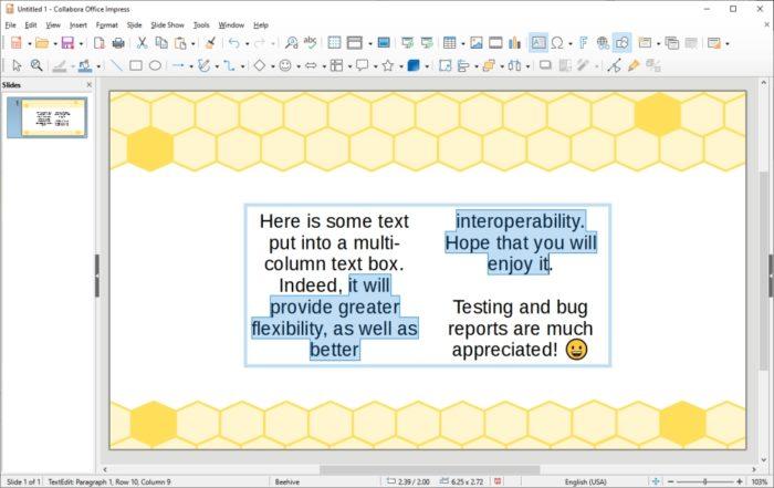 O Impress (slides) do LibreOffice 7.2 (imagem: divulgação/The Document Foundation)