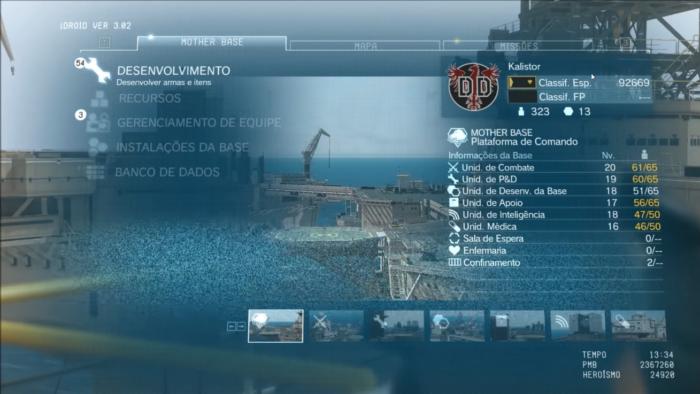 A Mother Base em Metal Gear Solid V