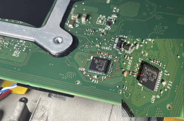 Módulo TPM do computador atacado (imagem: divulgação/Dolos Group