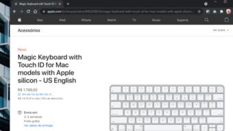 Teclado da Apple com Touch ID agora é vendido no Brasil separado do iMac