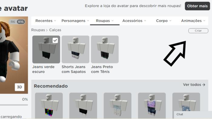 Criar roupas no Roblox