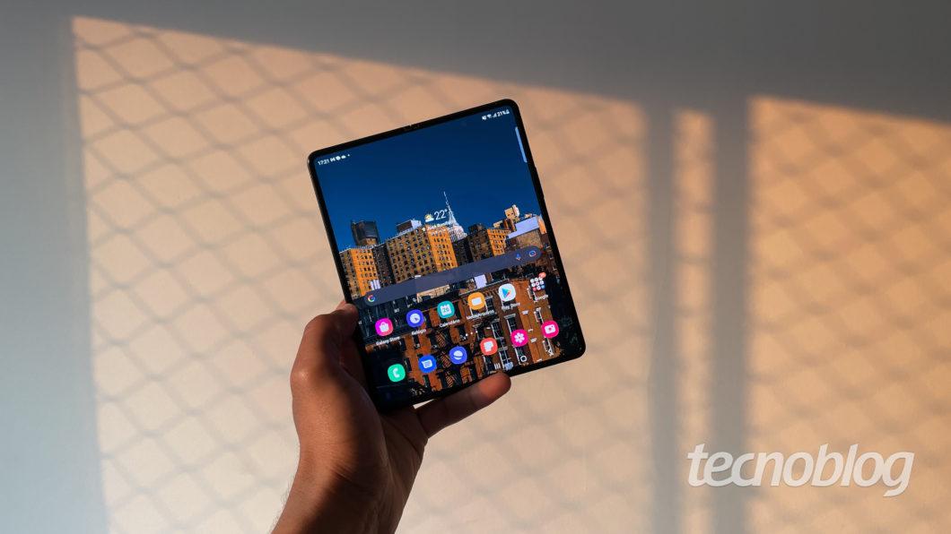 Samsung Galaxy Z Fold 3 (Imagem: Darlan Helder/Tecnoblog)