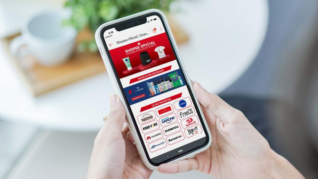 Shopee no <a href='https://meuspy.com/tag/Espione-celulares'>celular</a> (Imagem: Divulgação)