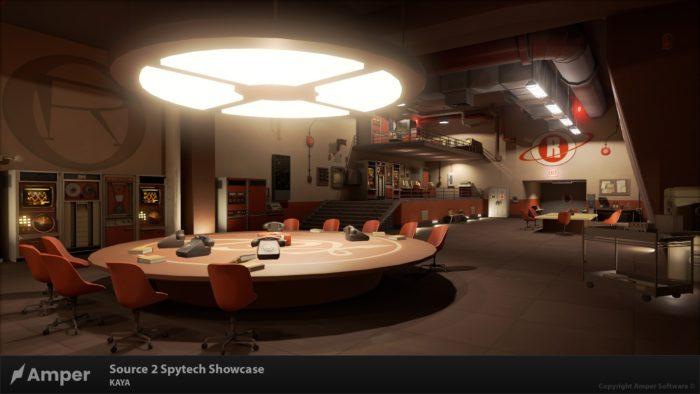 Mapa Spytech de Team Fortress 2 refeito na engine Source 2 (Imagem: Divulgação/Amper Software)