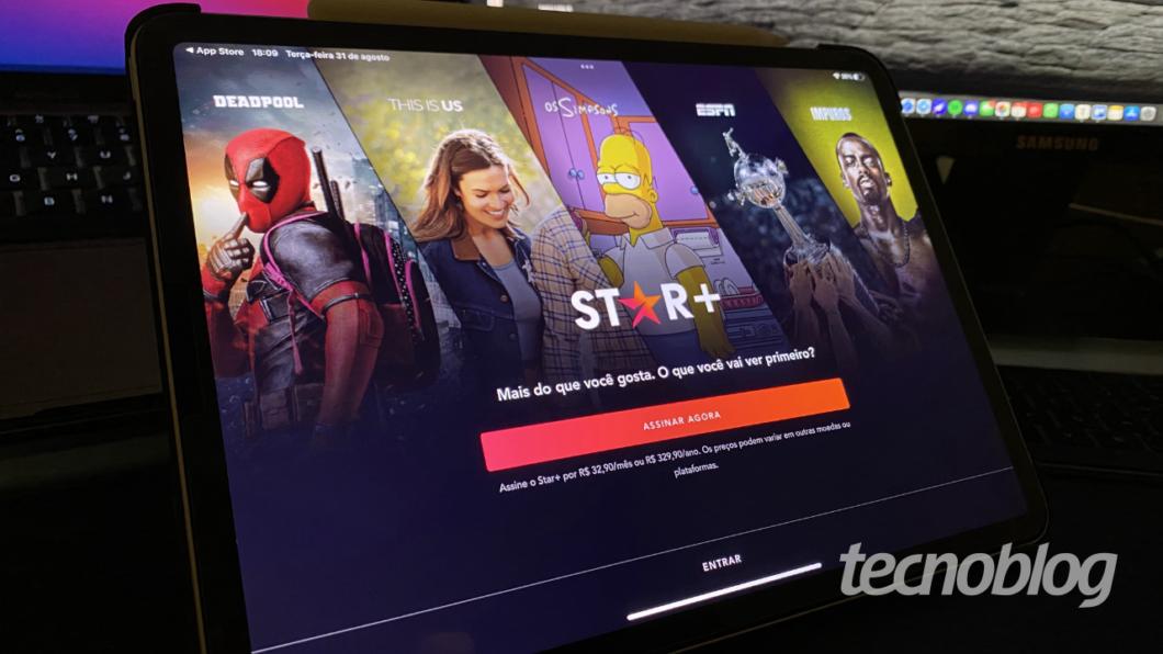 App do Star+ no iPad (Imagem: Lucas Braga / Tecnoblog)