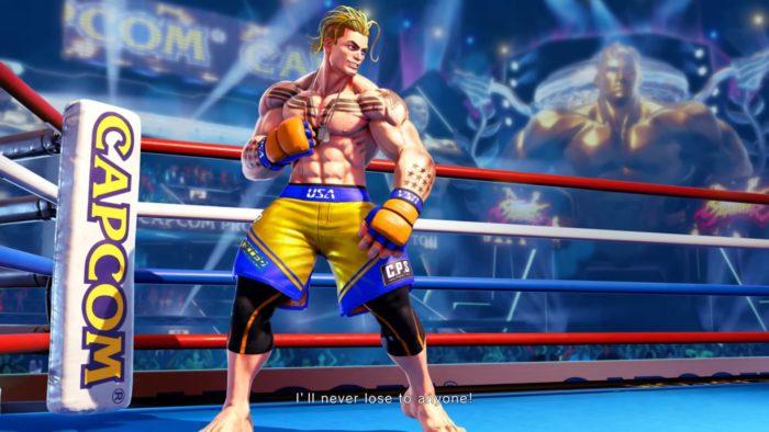 Luke é o lutador inédito de Street Fighter 5 (Imagem: Divulgação/Capcom)