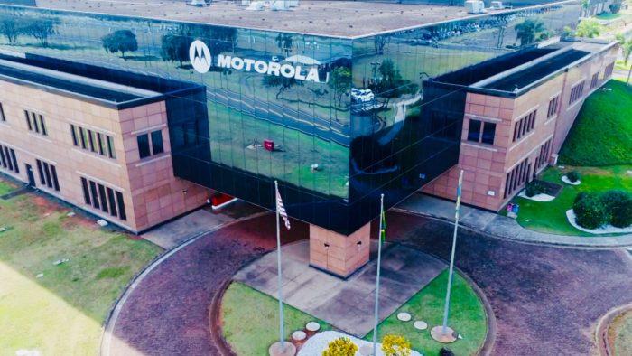 Vista aérea da unidade de Jaguariúna da Motorola (Imagem: Divulgação/Motorola)
