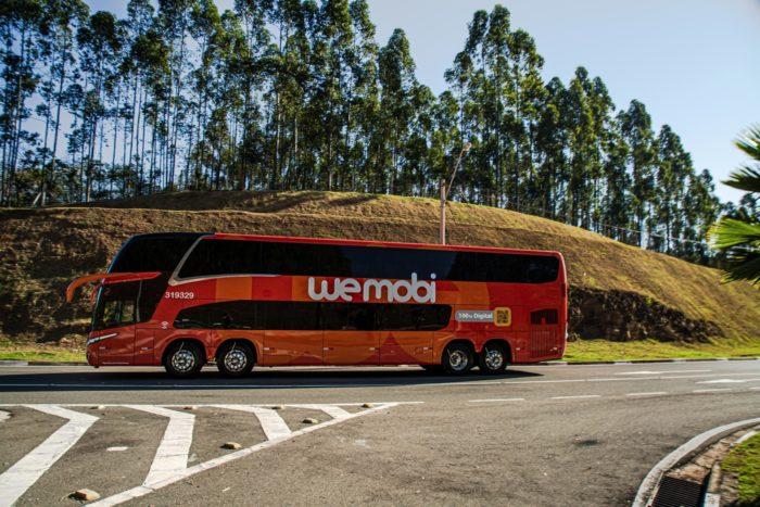 Ônibus da Wemobi (imagem: divulgação/Grupo JCA)