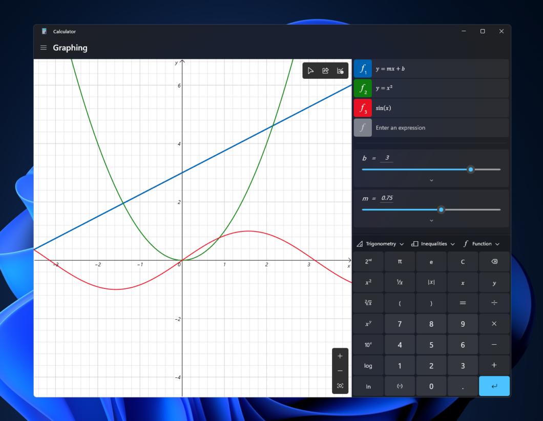 Calculadora do Windows 11 (Imagem: Reprodução/Microsoft)