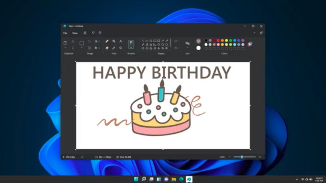 Novo Paint do Windows 11 (Imagem: Reprodução/Panos Panay/Twitter)