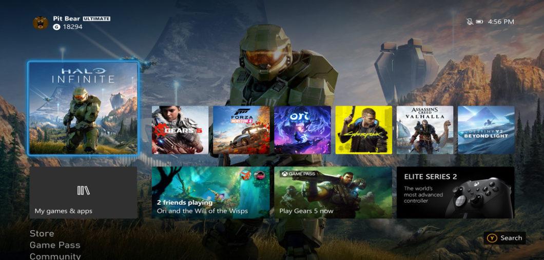Dashboard do Xbox Series X deve melhorar (Imagem: Divulgação/Xbox)